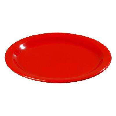 9 in. Diameter Melamine Dinner Plate in Red (Case of 48)