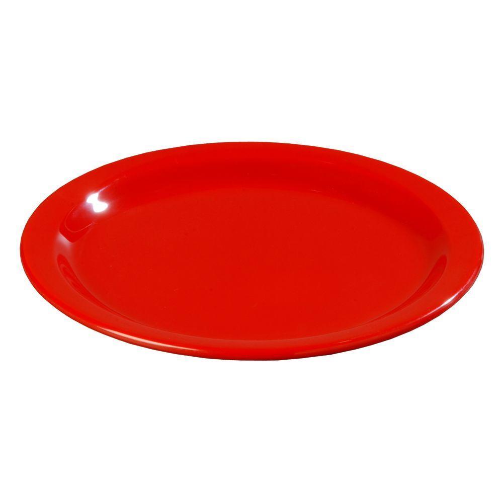 Carlisle 9 in. Diameter Melamine Dinner Plate in Red (Case of