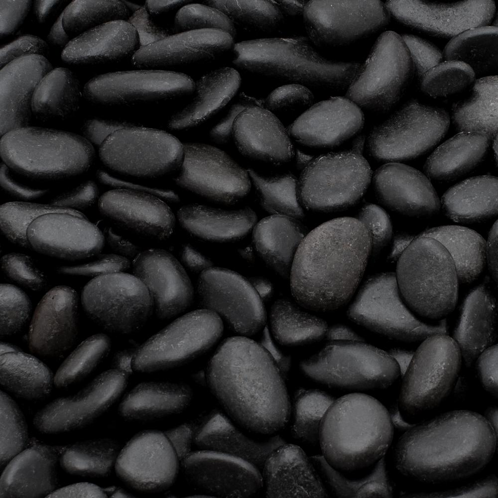1 cm 20 lb. Mini Black Grade A Polished Pebbles