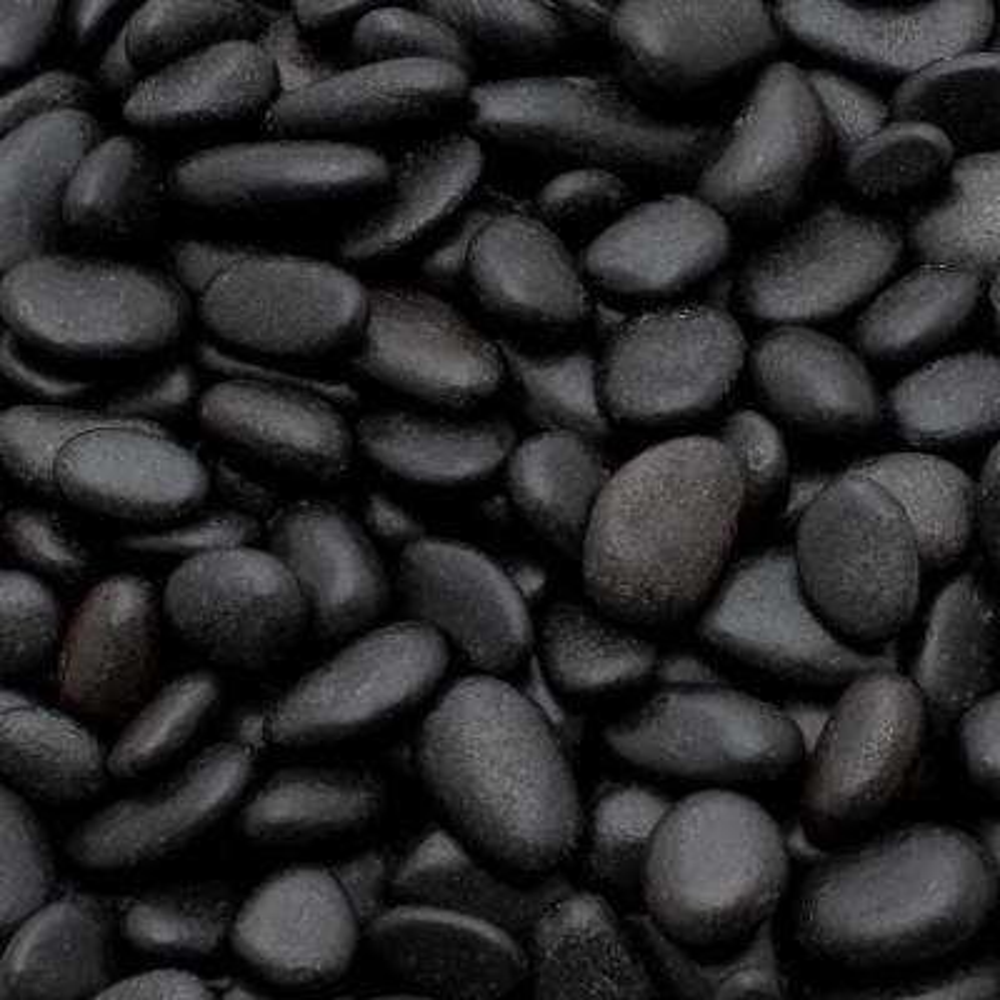 1 Cm 20 Lb Mini Black Grade A Polished Pebbles