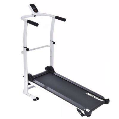 Foldable Manual Treadmill with 35 in. Running Belt