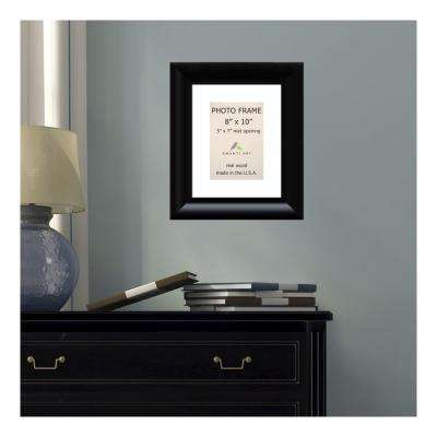 Steinway 5 in. x 7 in. White Matted Black Picture Frame