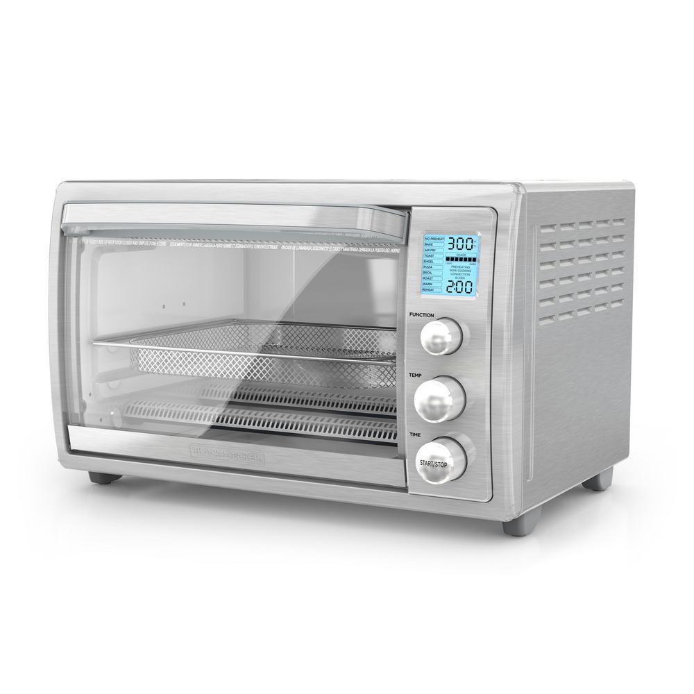 Crisp 'N Bake 8-Slice Air Fry Toaster Oven No Preheat, Stainless