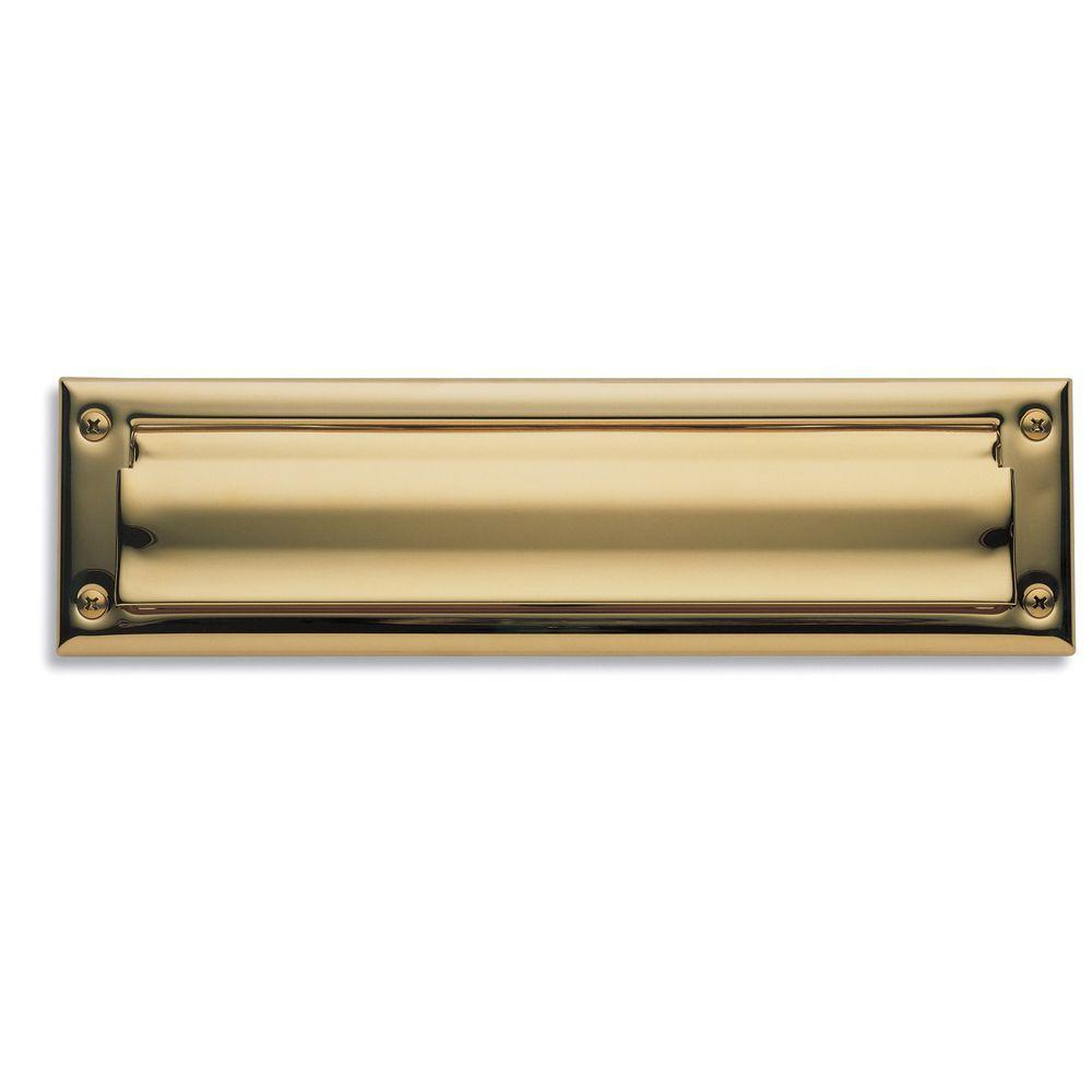 0014 Letter Box Plate Lifetime, Polished Brass