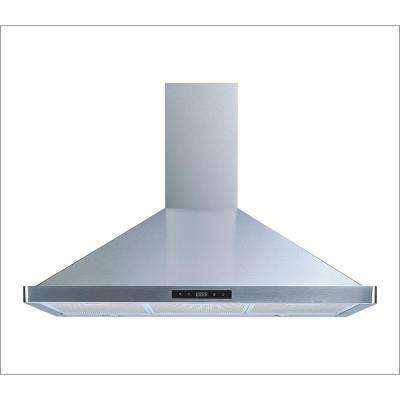 36 in. Convertible Wall Mount Range Hood in Stainless Steel with Touch Control, LED Lights and Aluminum Filters