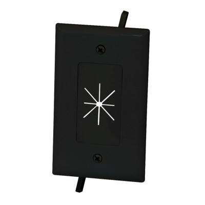 Flexible Opening Cable Wall Plate - Black