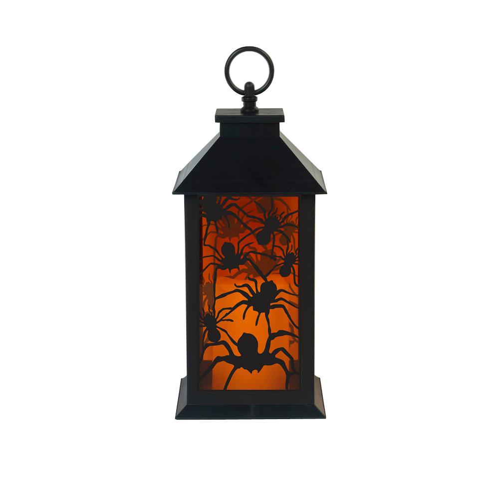 Home Accents Holiday 12 in. LED Plastic Lantern Spiders