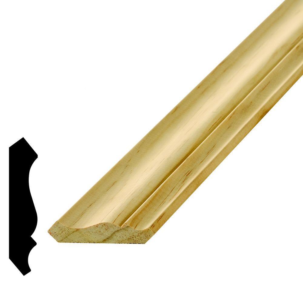 WM 52 9/16 in. x 2-3/4 in. x 96 in. Pine Crown Moulding