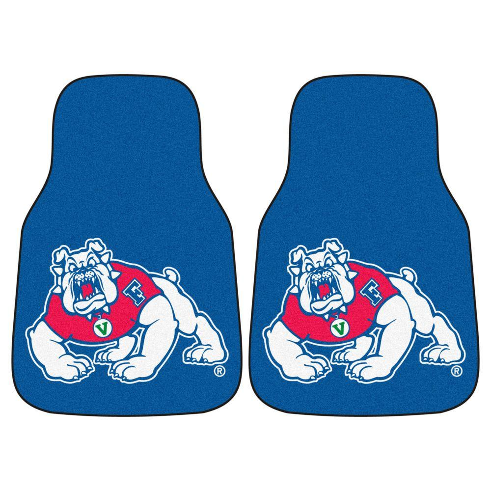 Fresno State University 18 in. x 27 in. 2-Piece Carpeted Car