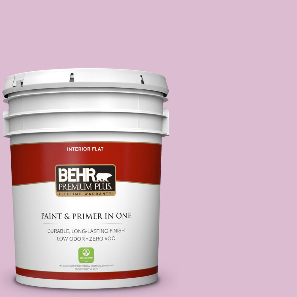 BEHR Premium Plus 5-gal. #690C-3 Delicate Bloom Zero VOC Flat Interior Paint