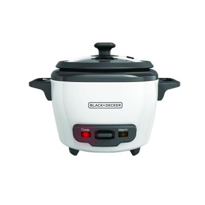 3-Cup White Rice Cooker with Steaming Basket and Non-Stick Pot