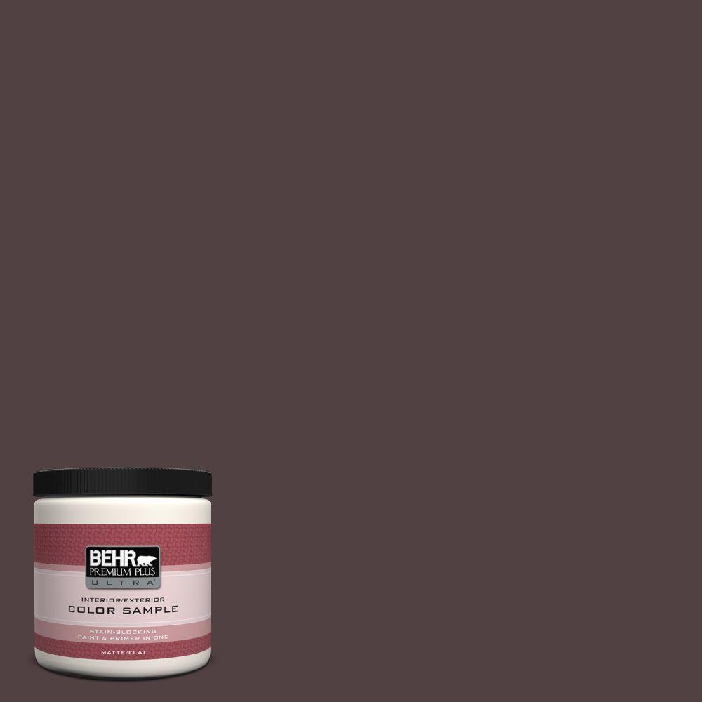 BEHR Premium Plus Ultra 8 oz. #BXC-87 Rich Bordeaux Interior/Exterior Paint Sample