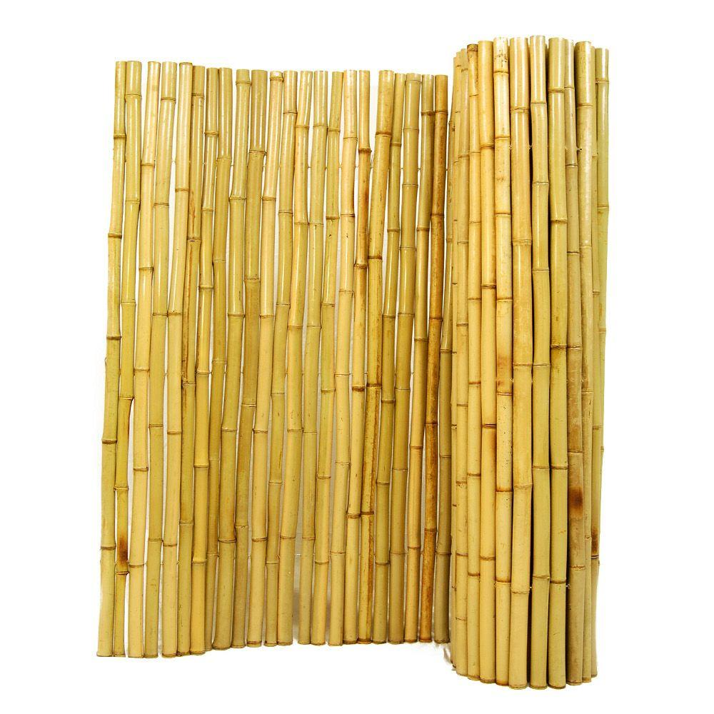Backyard X-Scapes 3 ft. H x 8 ft. W x 1 in. D Natural Rolled Bamboo Fence