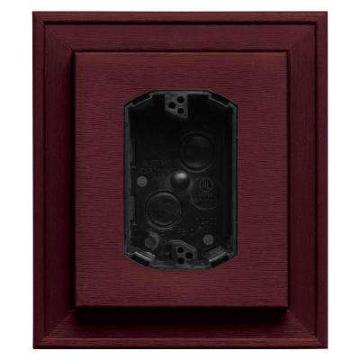 7 in. x 8 in. #078 Wineberry Electrical Mounting Block