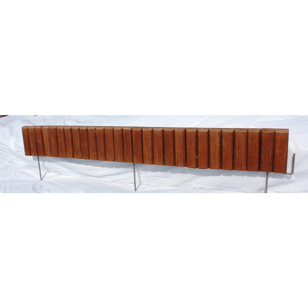 EcoGreen 2 5 ft  Brown Flexible Wood Lawn Edging