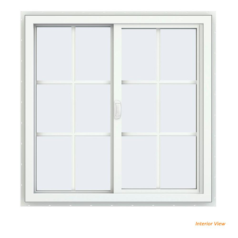 home depot sliding windows 70 series jeldwen 355 in v4500 series white vinyl lefthanded