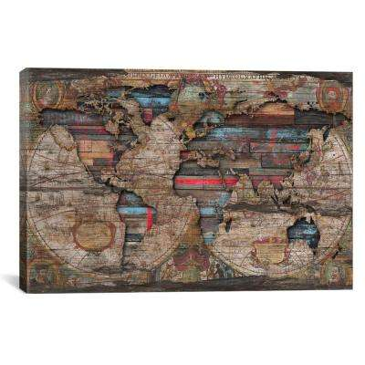 Distressed World Map by Diego Tirigall Wall Art