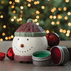 Click here to buy Candle Warmers Etc 8.5 in Frosty Candle Breeze with Candle Breeze Tin Bundle by Candle Warmers Etc.
