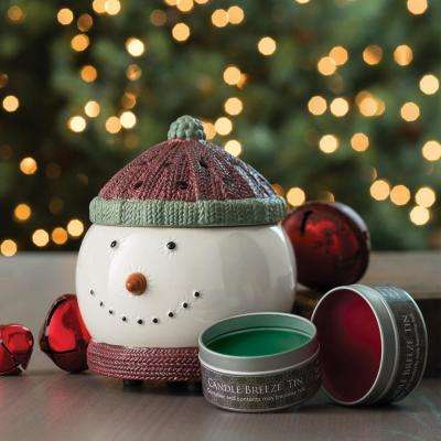8.5 in Frosty Candle Breeze with Candle Breeze Tin Bundle