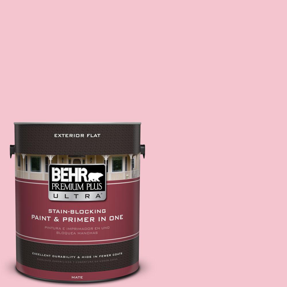 BEHR Premium Plus Ultra 1-gal. #P150-2 Energetic Pink Flat Exterior ...