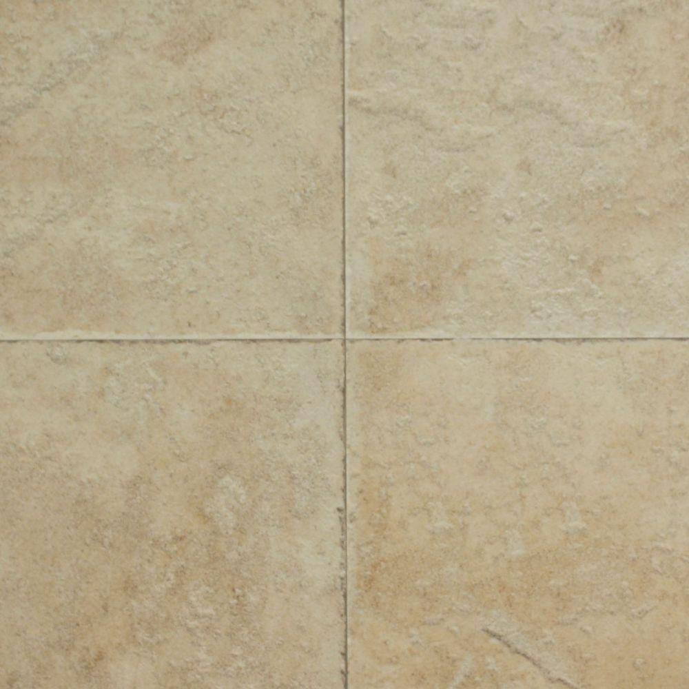 Hampton Bay Ivory Porcelain Laminate Flooring - 5 in. x 7 in. Take Home Sample