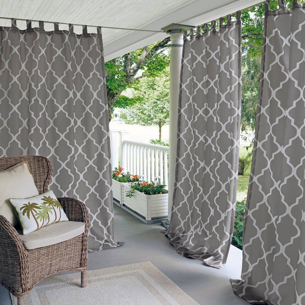 Corado 50 in. W x 84 in. L Indoor/Outdoor Tab Top Window Curtain Gray