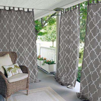 Corado 50 in. W x 95 in. L Indoor/Outdoor Tab Top Window Curtain Gray