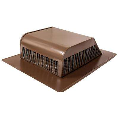 50 sq. in. NFA Galvanized Slant-Back Roof Louver Static Vent in Weatherwood (Sold in Carton of 6 only)