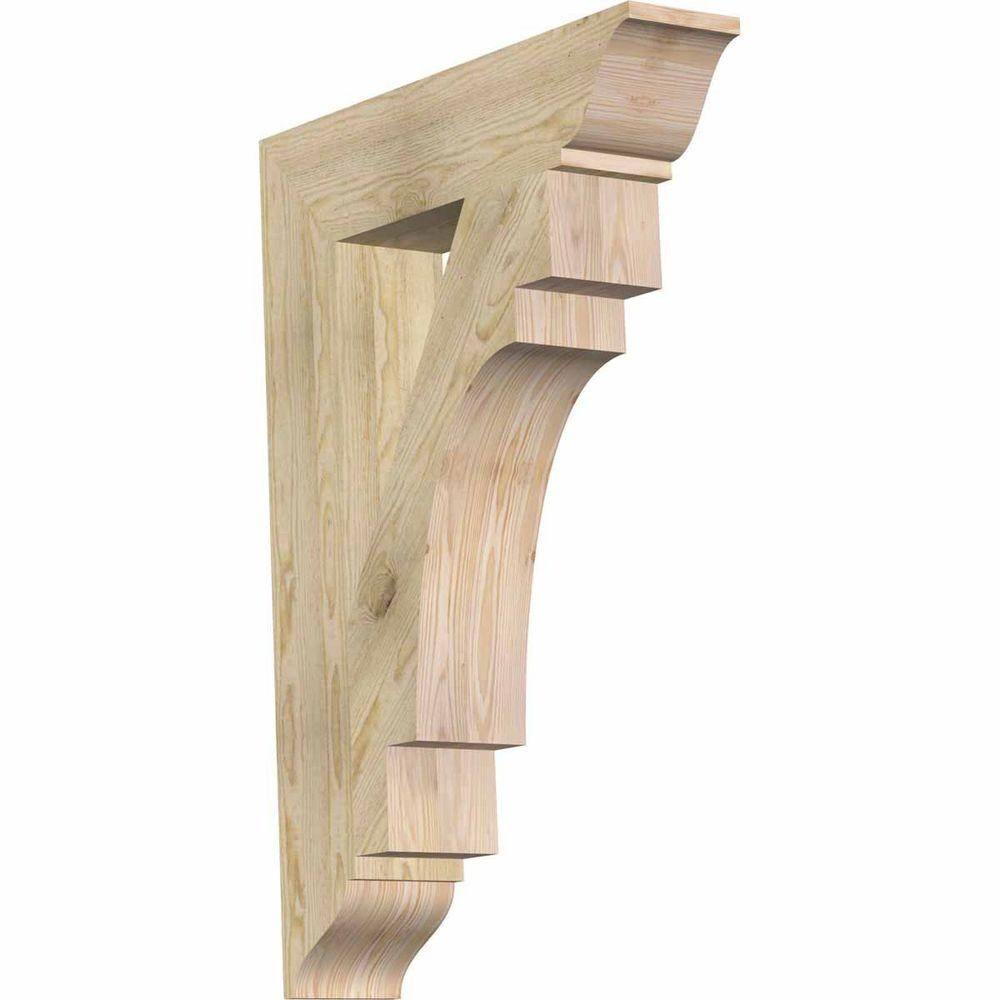 Ekena Millwork 6 in. x 40 in. x 28 in. Douglas Fir Merced Traditional Rough Sawn Bracket