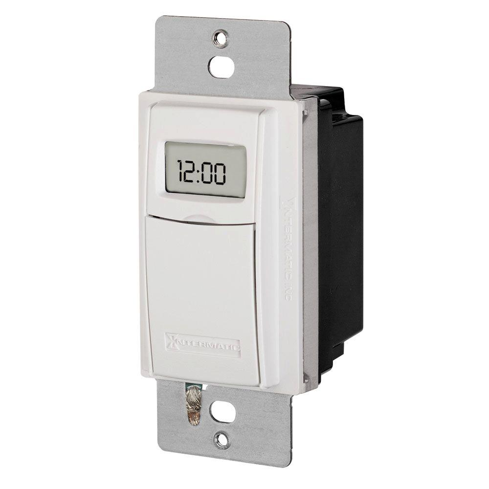 Intermatic 15 Amp Astronomic Digital In Wall Timer White St01k 28 Led Clock Circuit