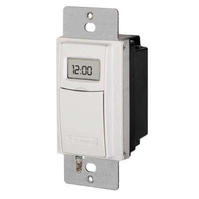 15 Amp Astronomic Digital In-Wall Timer - White