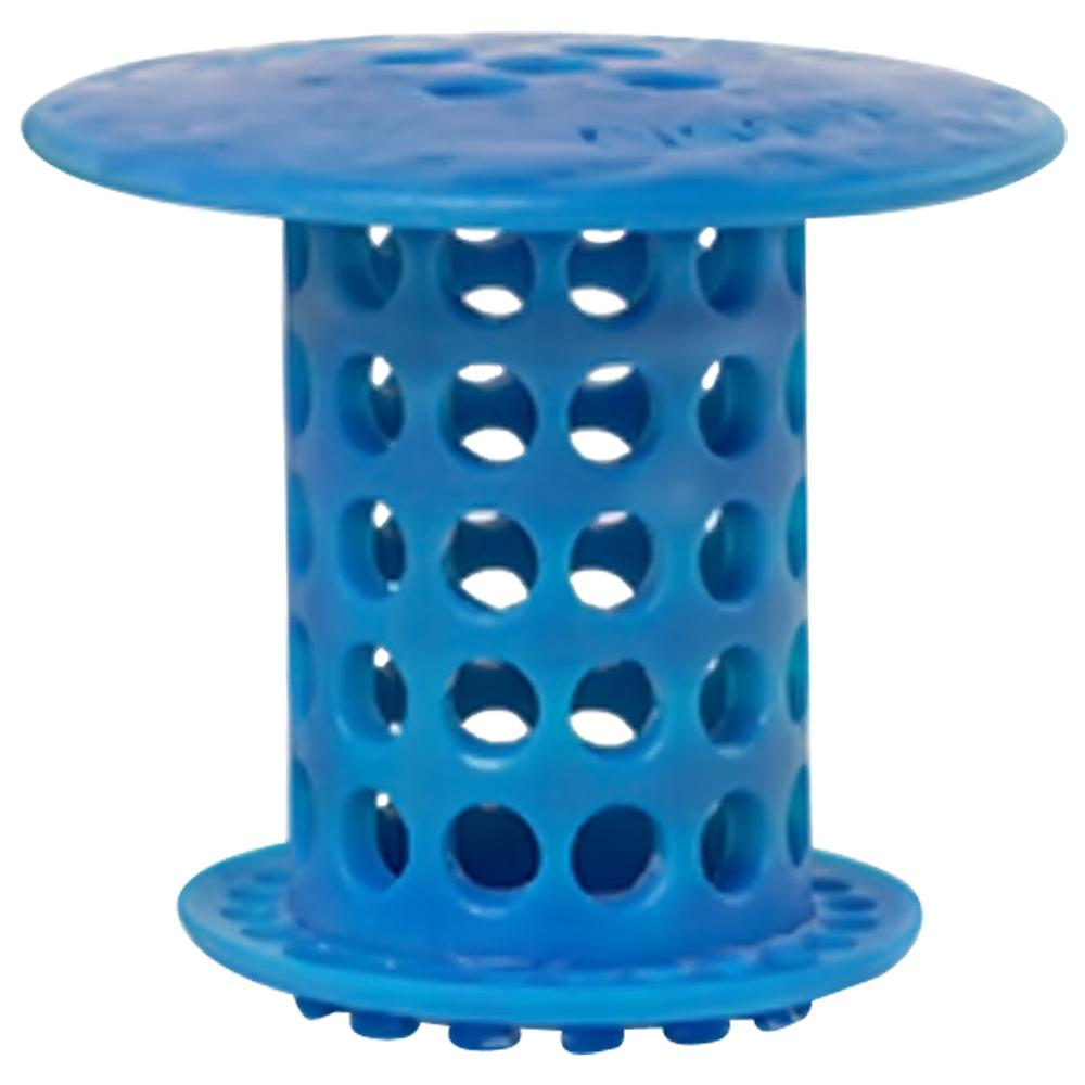 1.5 in. - 1.75 in. Drain Protector Hair Catcher in Blue, ...