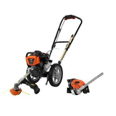 43cc Wheeled String Trimmer + Edger Attachment Combo Kit