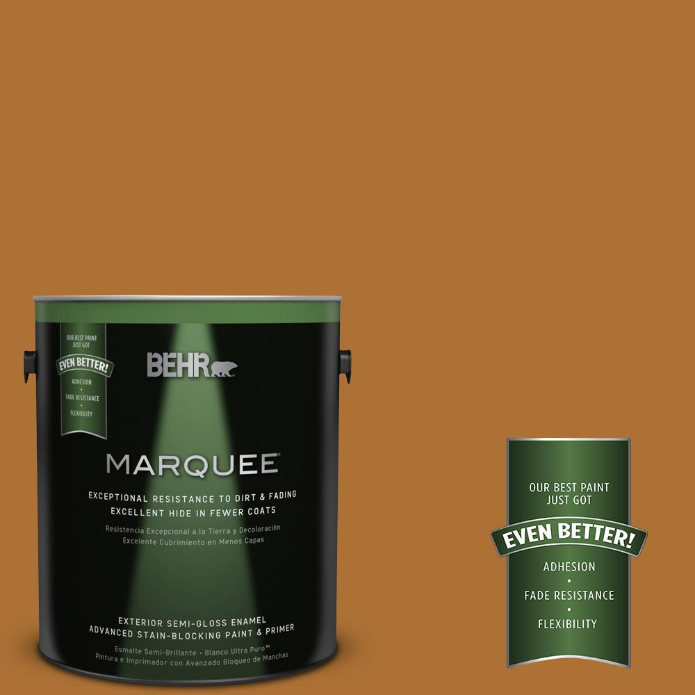 BEHR MARQUEE 1-gal. #S-H-320 Enchanting Ginger Semi-Gloss Enamel Exterior Paint
