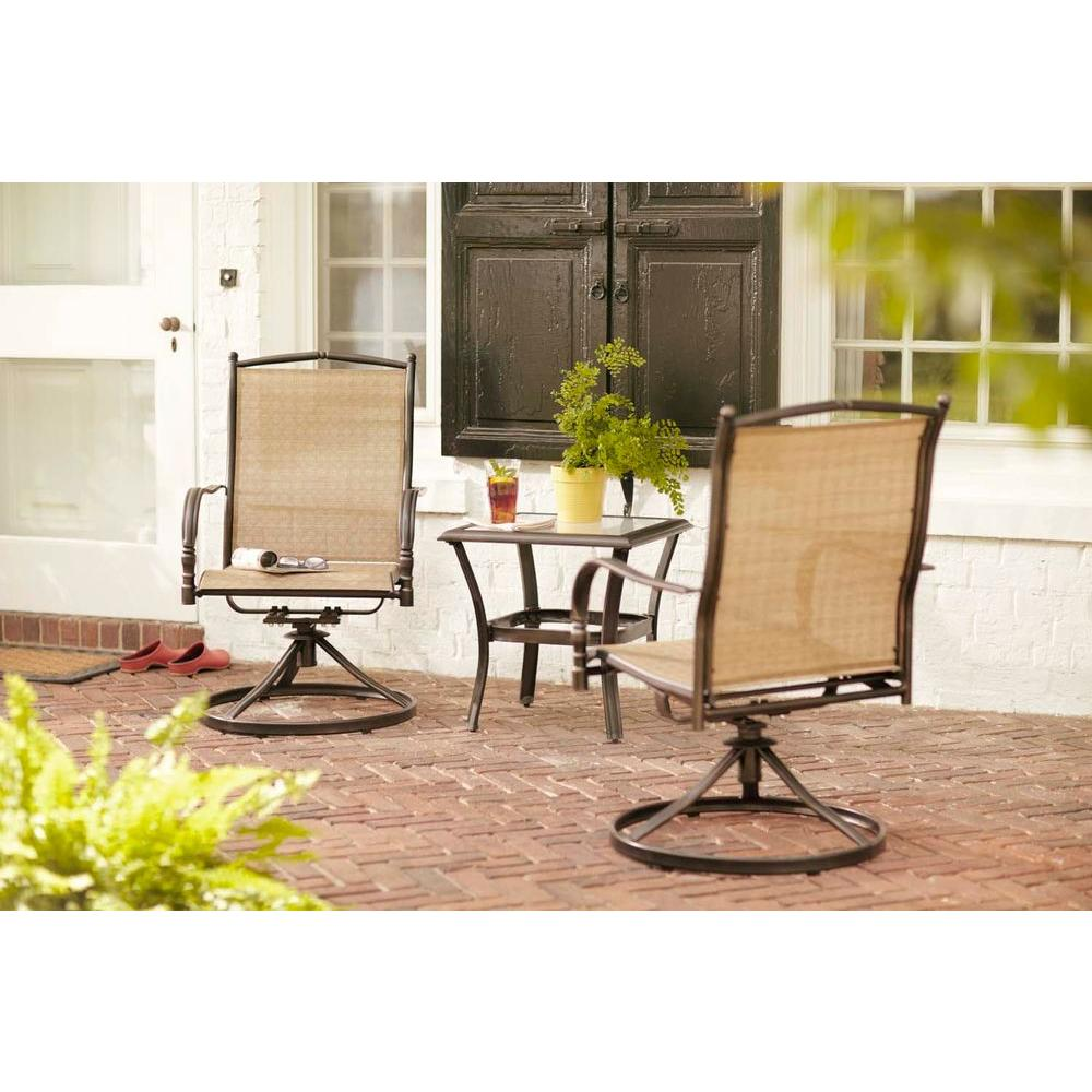 Hampton Bay Altamira Diamond 3 Piece Patio Bistro Set
