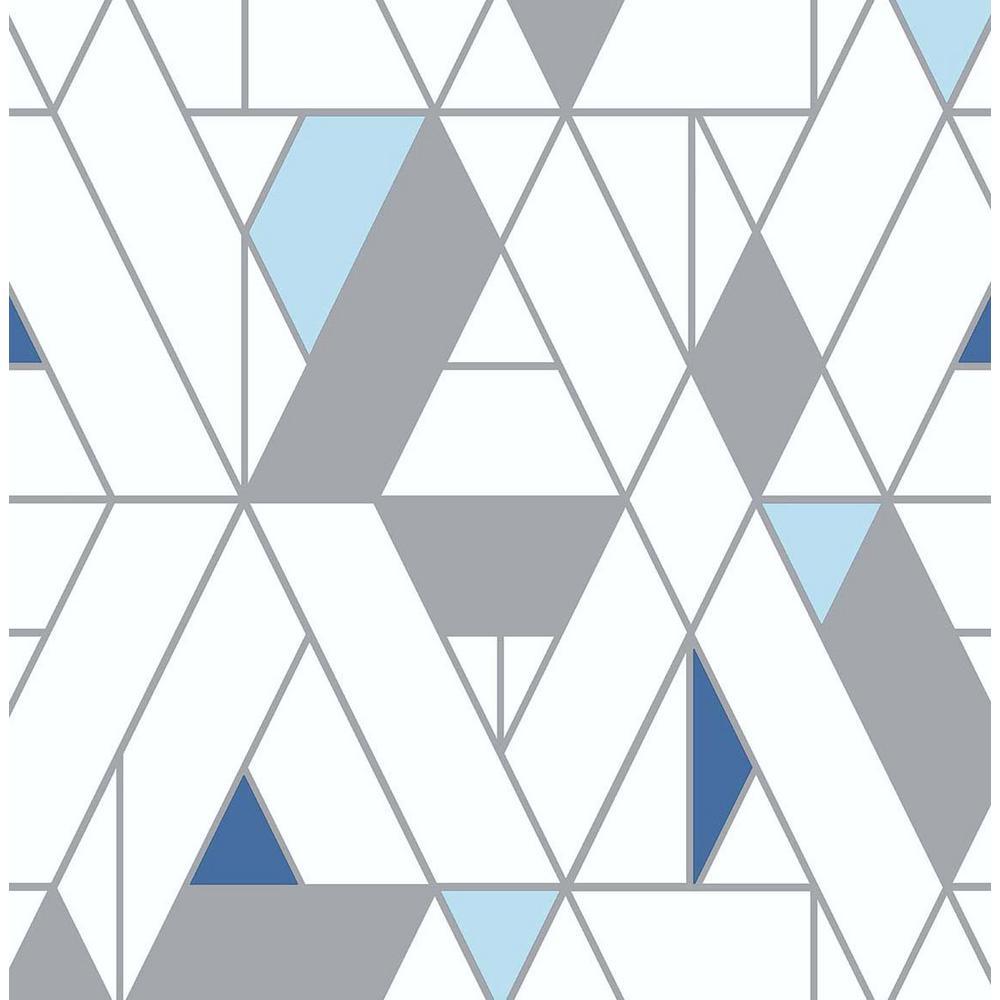 Kaleidoscope Blue & Grey Vinyl Peelable Roll (Covers 30.75 sq. ft.)