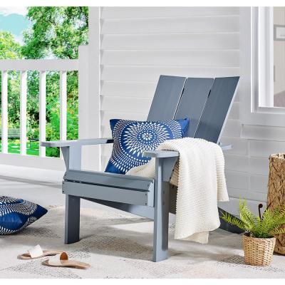 Aspen Gray Wood Adirondack Chair