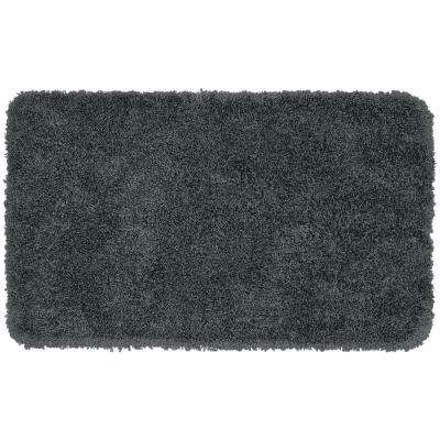 Serendipity Dark Gray 30 in. x 50 in. Washable Bathroom Accent Rug