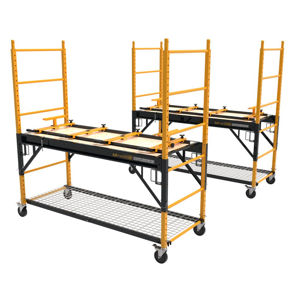 6 ft. Multi-Purpose 4-in-1 Scaffold Bench, Workbench, Storage System and Cart