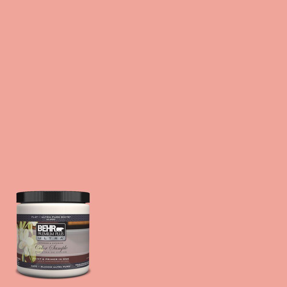 BEHR Premium Plus Ultra 8 oz. #170D-4 Peach Tile Interior/Exterior Paint Sample