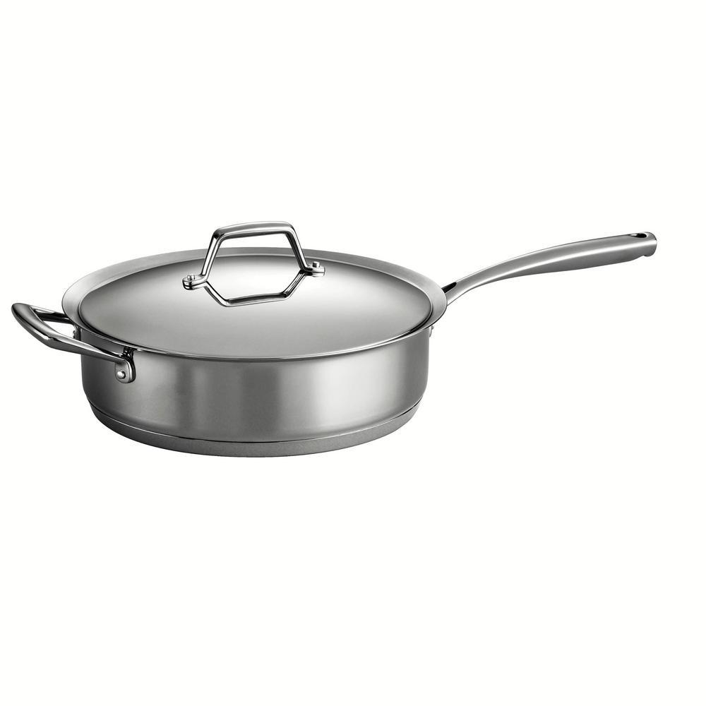 Tramontina Gourmet Prima 5 Qt. Stainless Steel Saute Pan ...