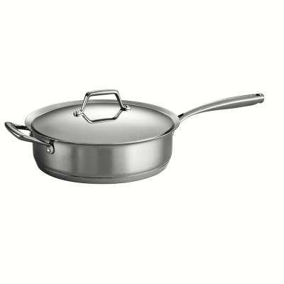 Gourmet Prima 5 Qt. Stainless Steel Saute Pan with Lid
