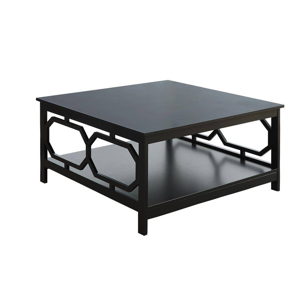 Convenience Concepts Omega Black Square 36 Coffee Table S20 214