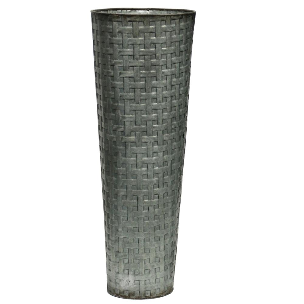 StyleCraft Grey Weave Patterned Metal Decorative Vase was $53.99 now $15.92 (71.0% off)