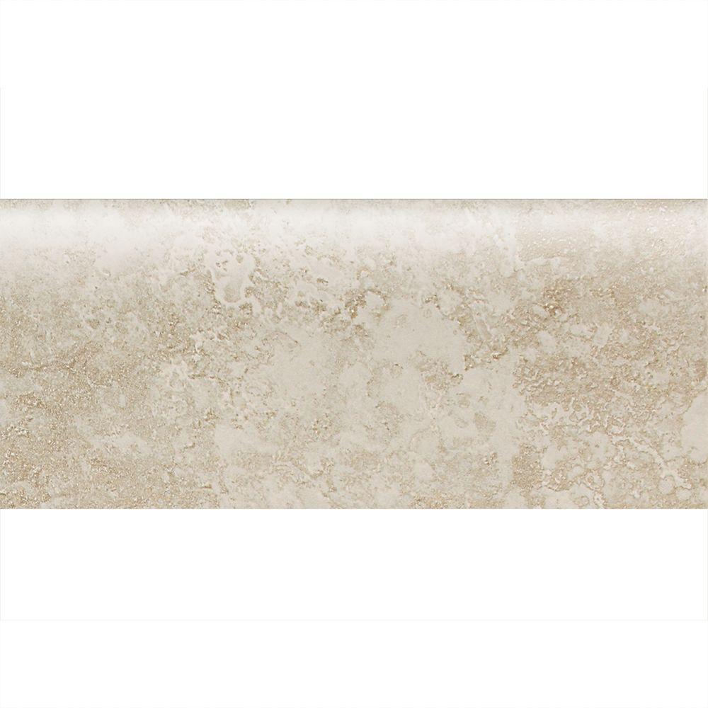 Sandalo Serene White 3 in. x 9 in. Ceramic Bullnose Wall