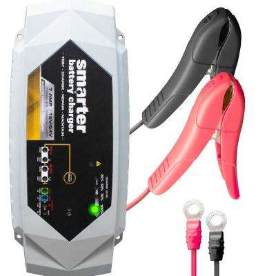 12-Volt/24-Volt 7 Amp Smart Automotive Battery Charger, Maintainer, Repairer, Tester with Advanced Desulphation Process