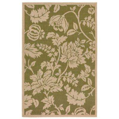 Baxter Blossom Green 5 ft. x 8 ft. Indoor/Outdoor Area Rug