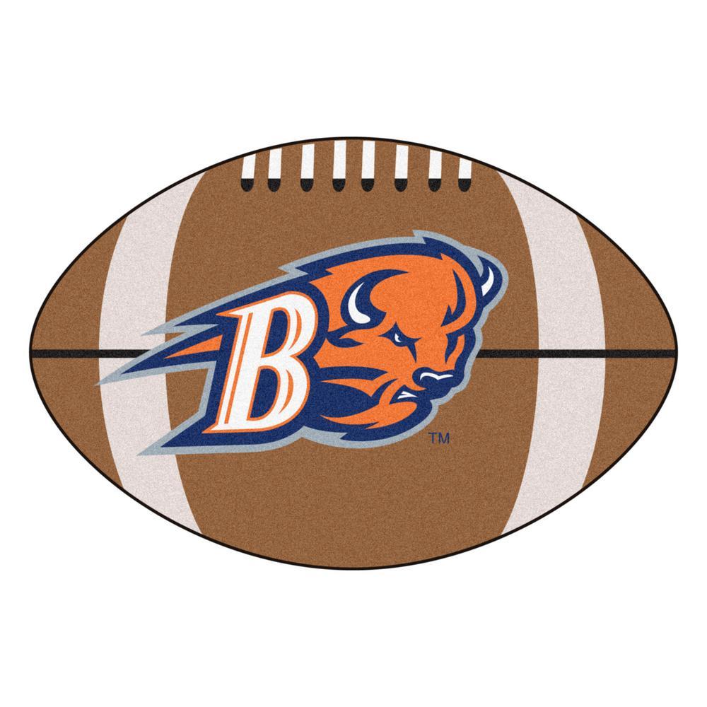 NCAA Bucknell University 20.5 in. 32.5 in. Football Mat Area Rug