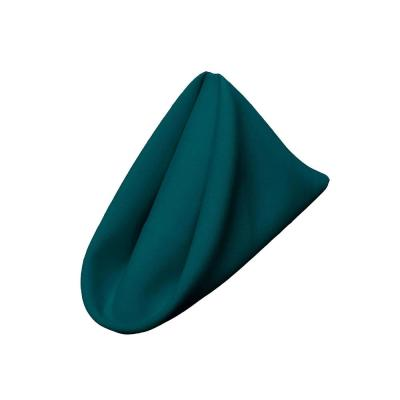 Polyester Poplin 18 in. x 18 in. Dark Teal Napkin (10-Pack)