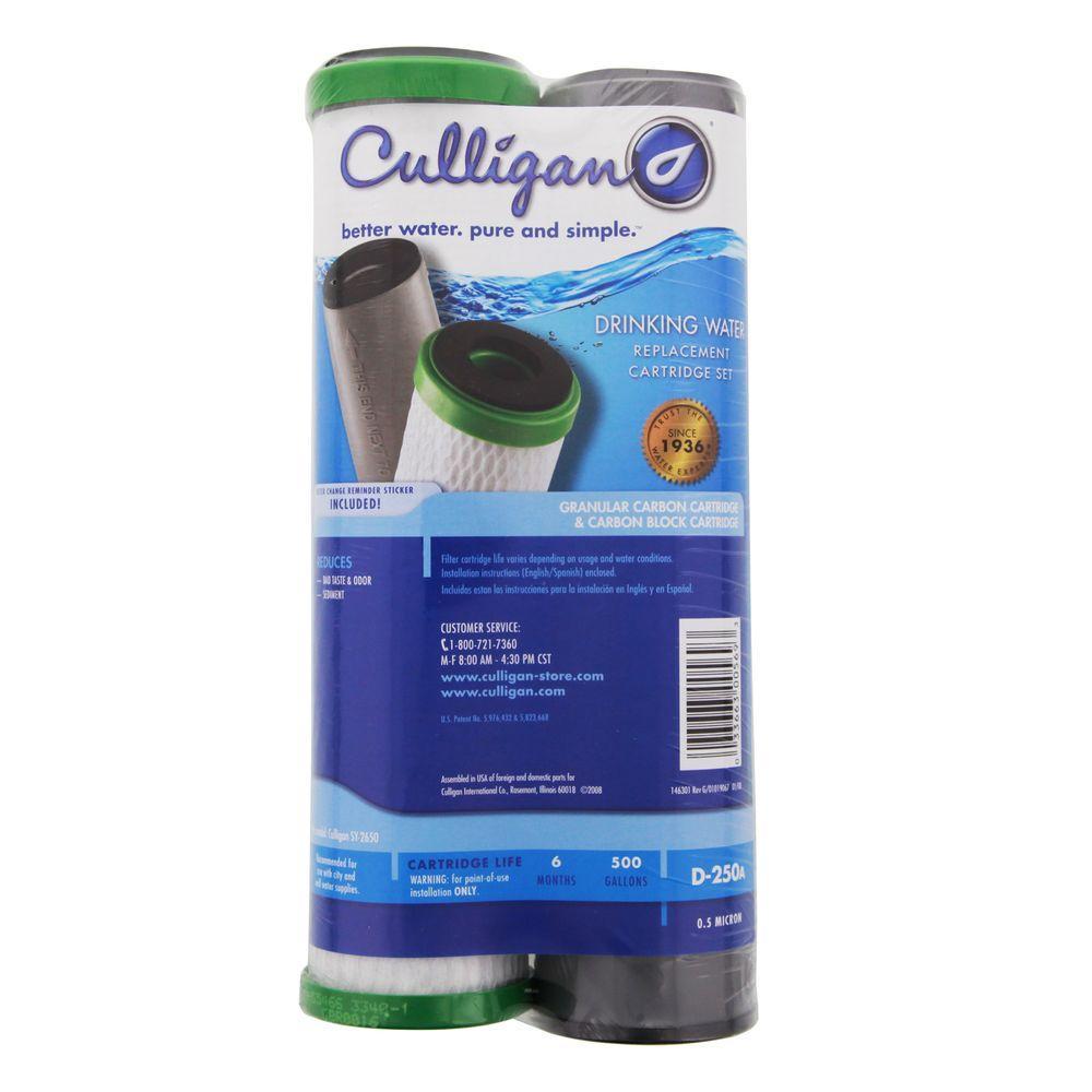 Culligan Undersink Filter Replacement Cartridge Set